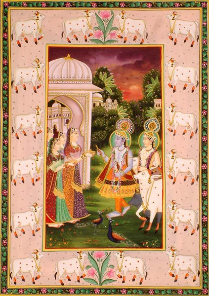 Krishna and Balarama at Mathura