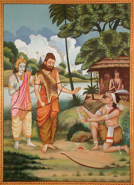 Eklavya Paying Guru Dakshina to Dronacharya