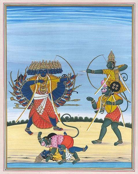 The Battle Between Rama and Ravana