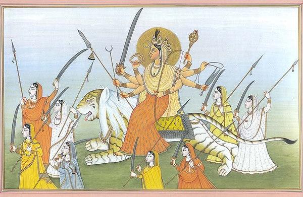Devi Durga with Army of Matrkas