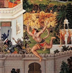 Hanuman Ji setting Lanka on fire