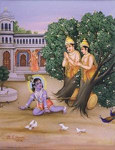 Krishna Liberates The Twin Arjuna Trees