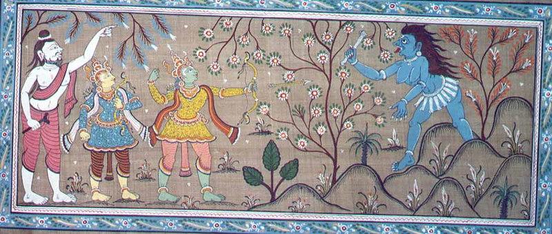 Lord Rama Slays Taadka