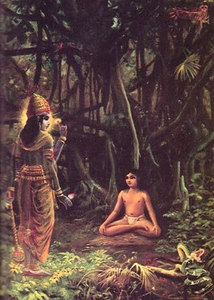 The child Narada, meditating on the Supersoul