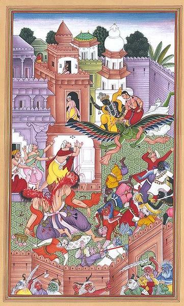 Shri Hari In Battle