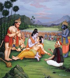 Raj Vaidya heals Lakshmana with herbs brought by Hanuman