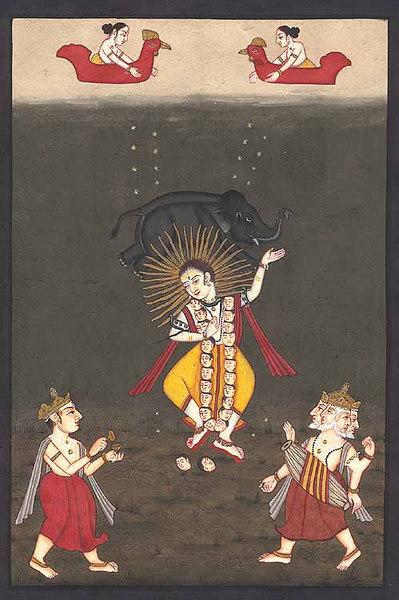 Gajantaka Shiva Dancing as Bhairava