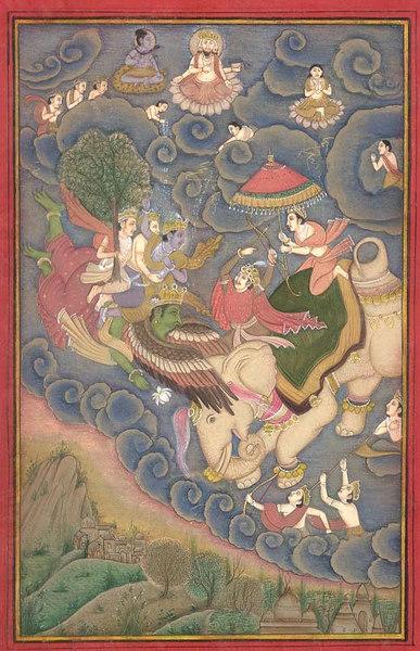 vishnu in battle