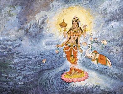 The Appearance of Goddess Lakshmi