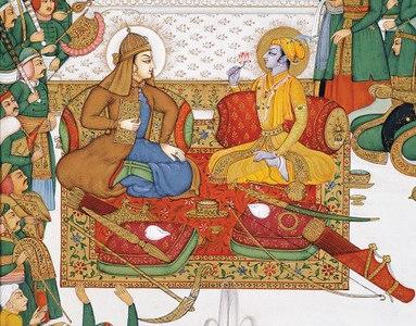 Krishna and Balaram in Dwaraka