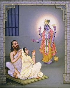 Four-Armed Krishna Appears Before Devaki & Vasudeva
