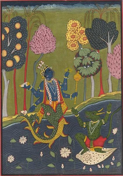 Matsya with the Demon Hayagriva
