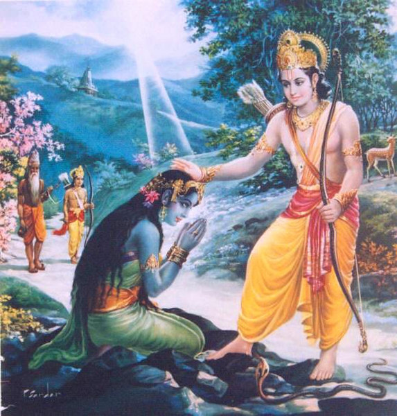 Shri Rama Frees Ahilya
