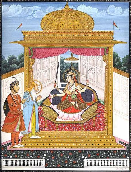 maharaja ranjeet singh worships durga