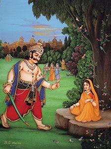 Ravana taunts Sita