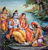 Boatman washing Rama's feet