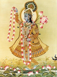 Krishna on the banks of the Yamuna River