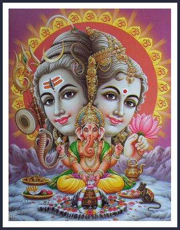 shiv parvati and ganesh