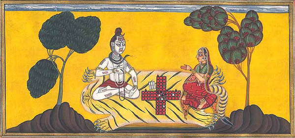 Shiva Cheats Parvati in the Game of Dice