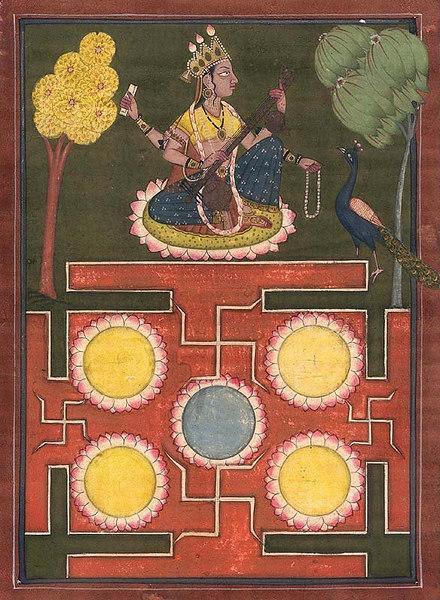 Saraswati With Yantra