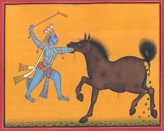Tender Lotus-Hands Become Heated Iron Rods of Krishna as Keshava