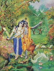 Krishna and Balarama in the forest of Vrndavana