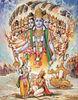 Krishna reveals his universal form