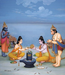 Rama worships Rameshvaram
