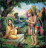 Hanuman delivers Sita a ring from Rama