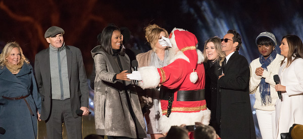 National Christmas Tree, Michelle Obama, Santa