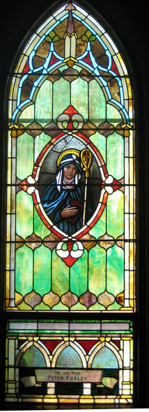 Unknown female saint; an abbess (because she's got a miter).