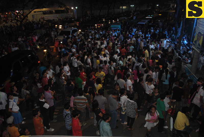 Some of the members of INC just stayed outside the Fuente Osmena Circle Tuesday.