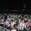 Iglesia ni Cristo members clad in black and white gathered inside the Fuente Osmena Circle Tuesday for a grand evangelical mission.