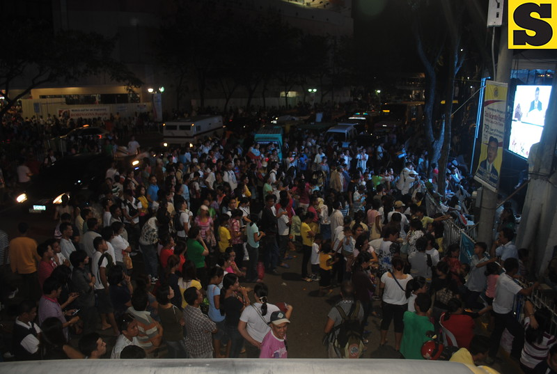 Some of the members of INC just stayed outside the Fuente Osmena Circle Tuesday and watched the happenings inside through a widescreen.