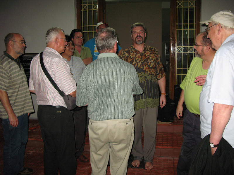 Fr. Spigniew (Poland) welcomes the guests to Christu Dehon Nivas.