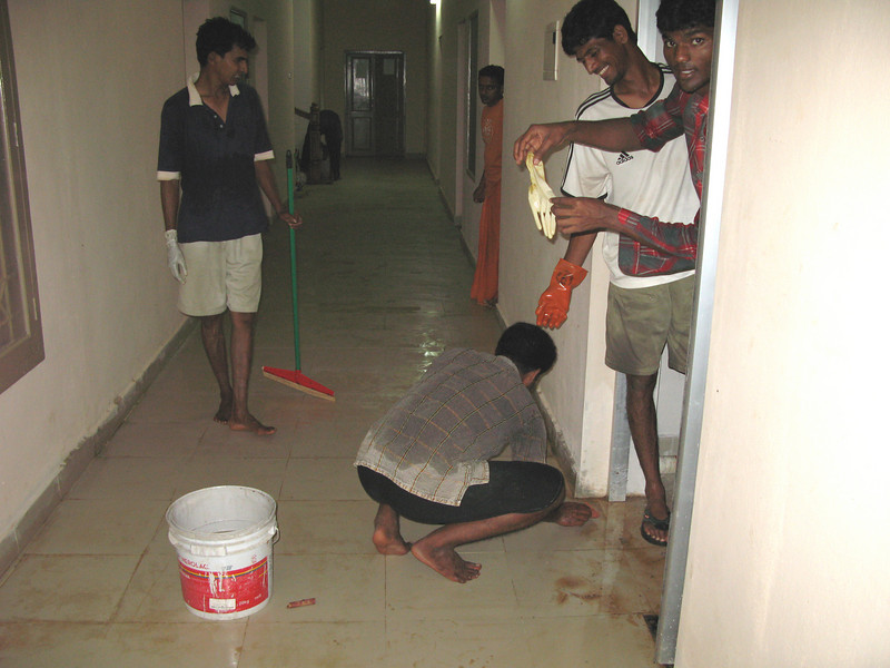 Brs. Michael B, Martin, Hrudaraj, and Jojappa Ch. are busy workers.