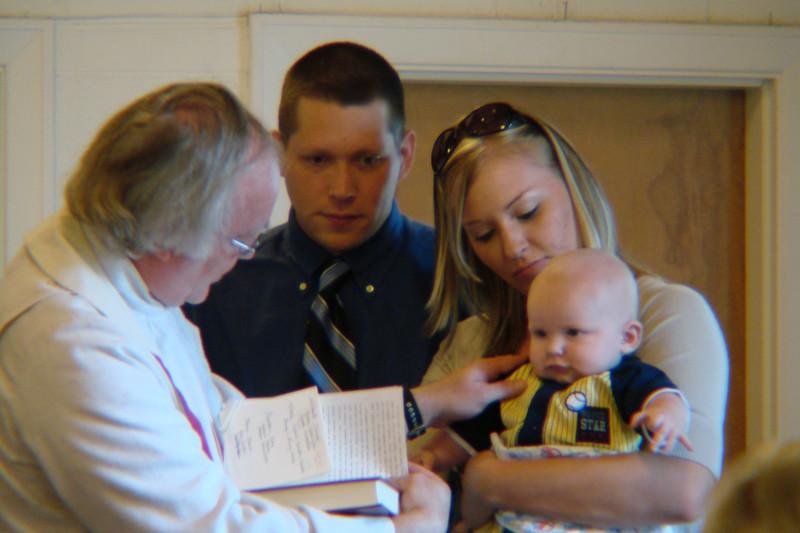 Arthur Drumheller and Melanie Pearce dedicate Avery to God