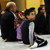 "Youssef Serghat, left, attends the midday service with his children, Mariam, 6, and Zakaria, 8, on Friday.<br /> Muslims attend worship at the new location of the Islamic Center of Boulder at 55th Street and Baseline Rd.<br /> For more photos of the Islamic Center, go to  <a href=""http://www.dailycamera.com"">http://www.dailycamera.com</a>.<br /> Cliff Grassmick / November 11, 2011"