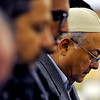 "Said Mabrouk, right, prays during the midday service on Friday.<br /> Muslims attend worship at the new location of the Islamic Center of Boulder at 55th Street and Baseline Rd.<br /> For more photos of the Islamic Center, go to  <a href=""http://www.dailycamera.com"">http://www.dailycamera.com</a>.<br /> Cliff Grassmick / November 11, 2011"