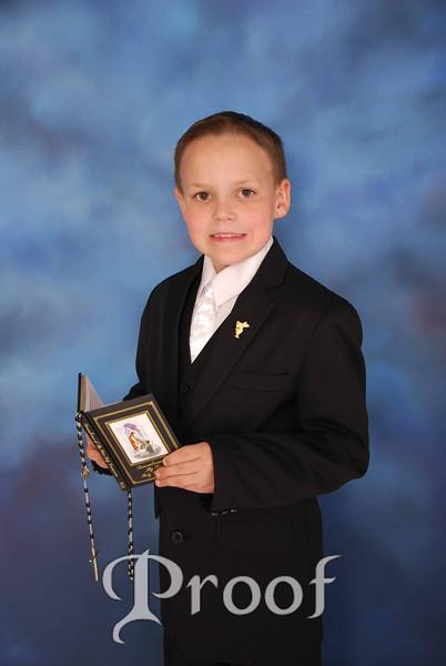 James E's Communion Pics.