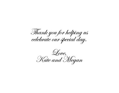 Kate & Megan - Thank You Cards