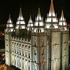 Salt Lake City, Utah Temple during the holidays by Steven Smith