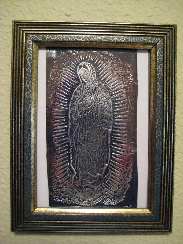 La Virgen de Guadalupe Made from a coke can