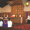 Entrance procession. Holy Family Mission Church, Rutherford, CA.