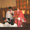 Communion. Holy Family Mission Church, Rutherford, CA.
