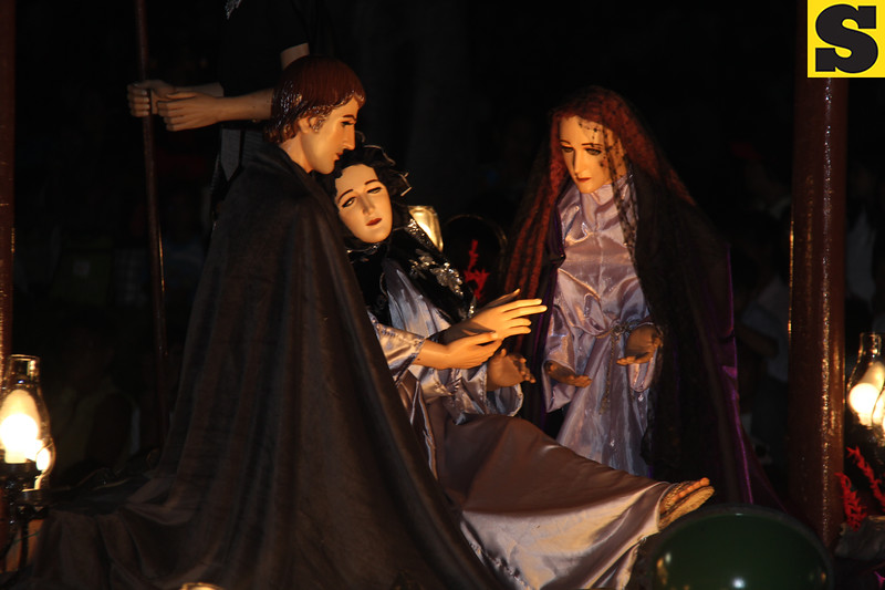 Death of Jesus Christ during the Good Friday procession in Bantayan Island, Cebu, Philippines