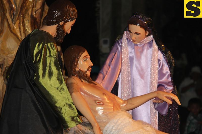 Holy Week-Good Friday procession in Bantayan Island, Cebu