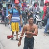 Polio victim BJ Marin makes his way to the 'Golgotha' in Barangay San Pedro Cutud during Good Friday's Maleldo 2012 rites.