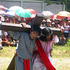 "One of the scenes in the street play ""Hinuklog"" staged in Medina, Misamis Oriental on Good Friday. (Michael Andrew W. Yu)"