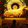Jesus Christ is portrayed as the Lamb of God in the Repository of Holy Name of Jesus Parish in San Roque Bitas Arayat where Rev. Fr. Ivan Torno led the Maundy Thursday vigil during the traditional Visita Iglesia.